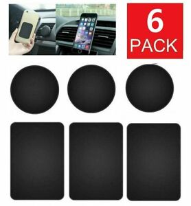 6-Pack Metal Plates Sticker Replace For Magnetic Car Mount Magnet Phone Holder