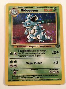 Rare Holographic Nidoqueen Jungle 7/64 Pokemon Card
