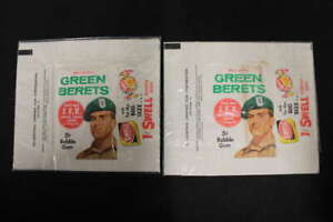 1966 PHILADELPHIA MEN OF THE GREEN BERETS GUM PACK WRAPPER WC6972