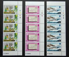Pitcairn Islands 1974 SG152/153/154 UPU Centenary Set Blocks of 5 Mint MNH/UMM.