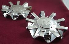 RS Wheels Chrome Custom Wheel Center Caps Set of 2 # CSRSW33-2P
