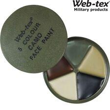 WEB-TEX ARMY MTP 5 COLOUR FACE PAINT CAMO CREAM BOYS SOLDIER FANCY DRESS MAKE UP