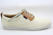 Sebago Mens Ryde Lace Up Canvas Oxford Beige and Tan Size 7.5 M