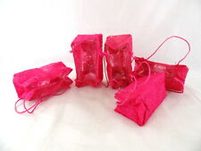 5 Deko Tüten / Taschen Sisal Folie  Rosa Pink faltbar Dekoration Topfblumen