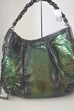 AUTHENTIC Gucci Green Galaxy Python Handbag/Purse  LARGE SIZE NEW