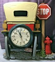 """Vintage 70's Burwood New Haven Working Wall Clock - 1908 AUTOMOBILE 15"""""""