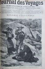 JOURNAL DES VOYAGES N° 946 de 1895 MEXIQUE ROSARIO FERNANDEZ / GUERRE MADAGASCAR