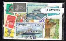 Mayotte 10 timbres différents