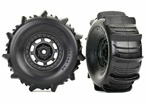 Traxxas 8475 UltimateDesert Racer Wheels with Paddle Tires, Black - UDR