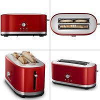 4-slice empire red toaster | kitchenaid long slot high lift reheat removable nib