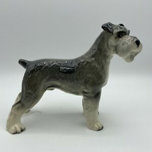 VINTAGE COOPER CRAFT CERAMIC KERRY GREY TERRIER DOG with sticker