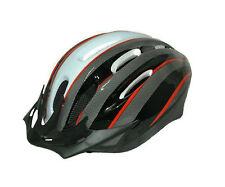 Casco Ciclismo Antimosquitos Color ROJO BLANCO CARBONO de Bicicleta 3942L