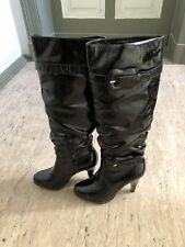 BUFFALO London Damen Stiefel Leder Gr.37 US Size 6 women high heel leather boots