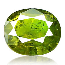 4.73ct 100% Natural earth mined yellowish green color demantoid garnet russian