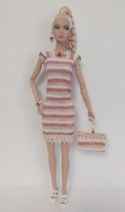 Poppy Parker Doll Clothes - DRESS PURSE and JEWELRY Handmade Fashion NO DOLL d4e