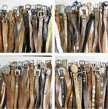 LOT OF 100 LEATHER WESTERN BRAIDED FASHION BELTS VINTAGE & CONTEMPORARY