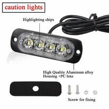 12V-24V LED Luces Blancas Flash Estroboscópico Advertencia Lámparas Para Motocicletas Coche Camión