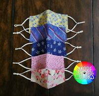 Face Masks 100% Cotton Triple Layer and Adjustable Loops (MADE TO ORDER)