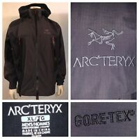 Arc'teryx Men's Black And Gray SL Hybrid Gore-Tex Full Zip Jacket Size XL