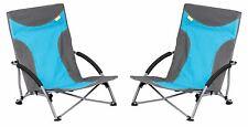 Kampa Sandy basse pliable plage chaise-Bleu X 2
