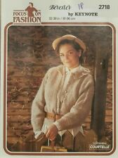 "Keynote Knitting Pattern 2718 Cardigan Jacket Ladies Chunky Tweed 32-38"" Vintage"