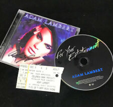 Autographed Adam Lambert - For Your Entertainment Signed CD & Concert Ticket