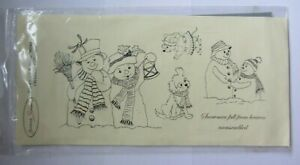 Joanna Sheen-Snowmen & Snow Mouse Christmas Collection-Stamp-Unmounted-New