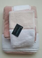 Cynthia Rowley  Bathroom 6 PC Towel Set Stripe White Peach Pink New