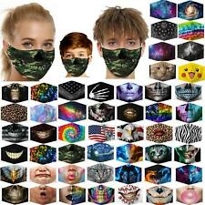 Washable Funny Face Mark Mask Facemask 3D Women Men For Cosplay HipHop Party