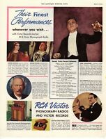 1937 ORIGINAL VINTAGE RCA VICTOR RADIO MAGAZINE AD **