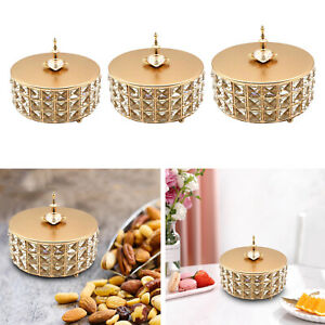 Round crystal jewelry box travel necklace trinket earring