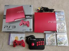 Japanese Sony Playstation 3 Scarlet Red  CECH-3000B Boxed Excellent Condition
