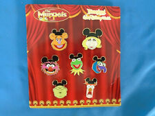 Muppets Disney Pin Set of 7 2009 Kermit Piggy Fozzi and Authentic New on card