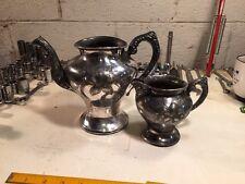 Antique Richfield Plate Co. Quadruple 2 Piece Tea Set! Pattern 2276 Great Patina