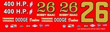 #26 Bobby Isaac 1964 Dodge 1/18th Scale Waterslide Decal