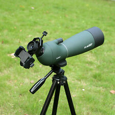 New 25-75x70mm Waterproof Angled Zoom Spotting Scope&Cell Phone Mount Adapter fr