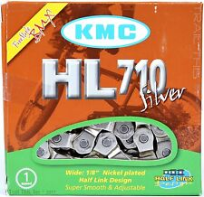 "KMC HL710 Silver Single-Speed Half Link Bike Chain 1/2"" x 1/8"" BMX Fixie Track"