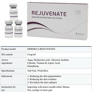 Hyaluronic Acid Skin Rejuvenate For Mesotherapy Microneedling 8mg 5 Vials