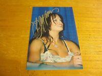 Christy Hemme Wrestler Autographed Signed 4X6 Photograph Wrestling TNA WWE
