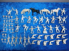 Convolute 42 Merten Plastic Figures Blanks Wild West Cowboys 4cm