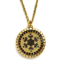 Maximal Art Necklace Alpine Christmas Snowflake Gold John Wind Jewelry New
