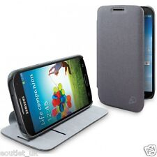 Cygnett Cache Fabric Flip Case Cover For Samsung Galaxy S4 - Charcoal Grey NEW