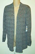 Charter Club NWT Black Combo Open Cardigan Knit Top  Sm