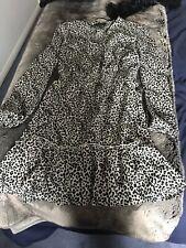 Lipsy Size 12 Animal Print Wrap Dress Cream Black Bnwt