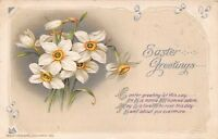 JOHN WINSCH EMBOSSED EASTER GREETING POSTCARD c1916