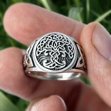 Viking Tree of Life Celtics Knotwork Ring Mens Stainless Steel Norse Jewellery