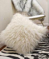 Luxury Fleece Cushion Plush Mongolian Lamb Fur Pillow Cushion Cover Pillowcase