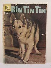 Vintage 1957  Jan-Feb Rin Tin Tin Comic Book, Gold Rush, Wolf Dog, Golden Bugle