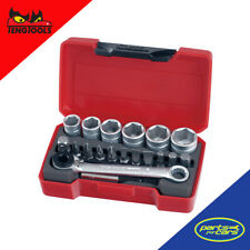 T1419 - Teng Tools - 19 Piece - 1/4 Inch Drive - Bit Socket Set