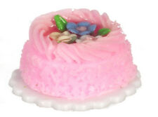 Pink Cake, Dolls House Miniature, Miniatures, Food, Cakes, Sweets